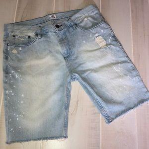 Calvin Klein Jean Shorts Bleached & Frayed